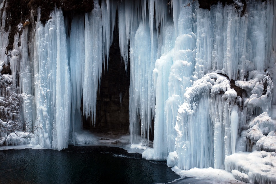 Frozen waterfall 1